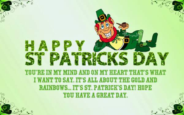 St Patrick's Day Wishes