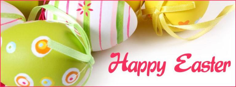 Happy Easter Egg Basket Facebook Covers